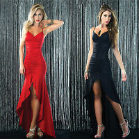 Long  Sexy Women Backless Bandage Gown Ball Party Cocktail Evening Club Dress