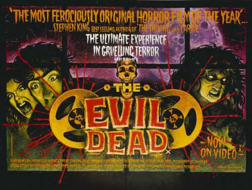 Casa Pared Arte Impreso-Vintage Movie Film Poster-The Evil Dead-A4 A3 A1 A2