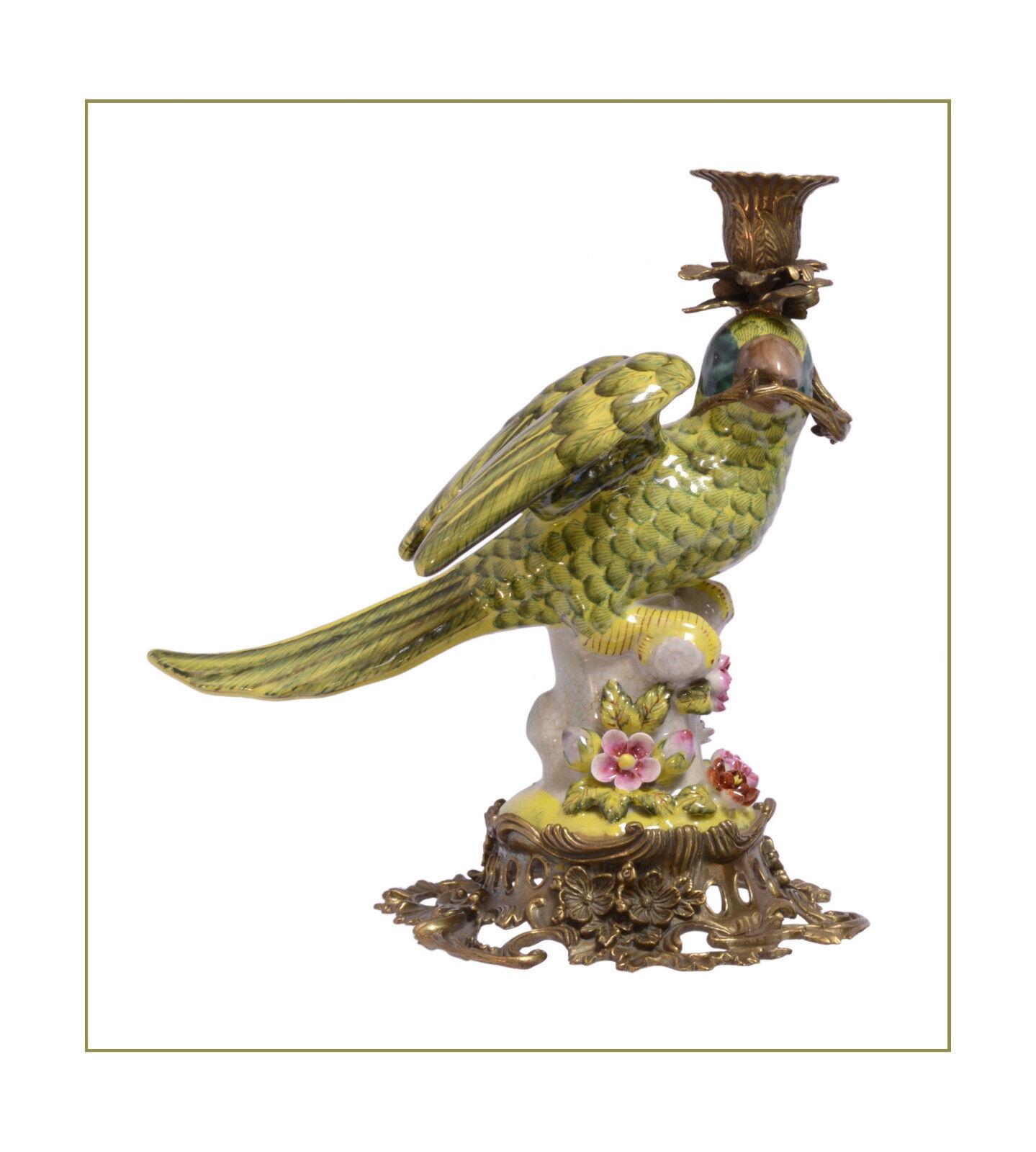 Messing Keramik figürlicher Kerzenleuchter Papagei rechts neu neu neu 99937885-dss 5622e6