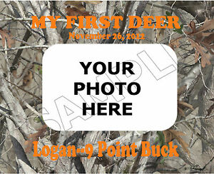 My First Deer Photo Frame Personalized Print Gift Ebay