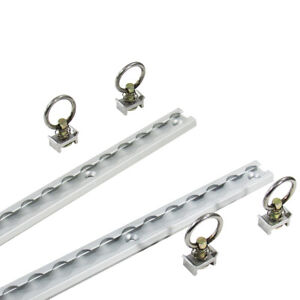 Details about Pit Posse 4' Aluminum S Track Tie Down Rails Set of 2 in  Silver 5 Year Warranty