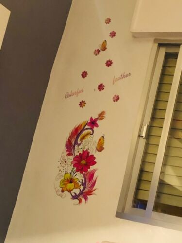 Wall Sticker Decor Home Diy Mural Removable Art Vinyl Decal Flower Feather Birds
