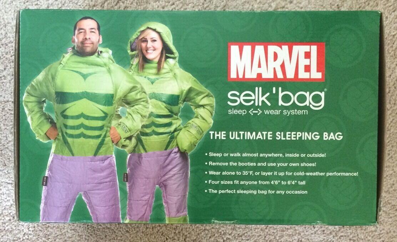 Marvel Selk' Bag Incredible Hulk Adult Size Small