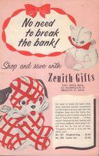 "Zenith Gifts ""No Need To Break The Bank"" Catalog Circa 1950's 062217nonDBE"