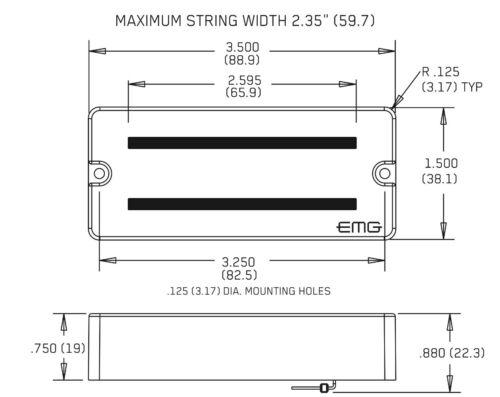 EMG 81-7 85-7 WHITE 7 STRING SOAPBAR ACTIVE GUITAR PICKUP SET w// POTS /& WIRING