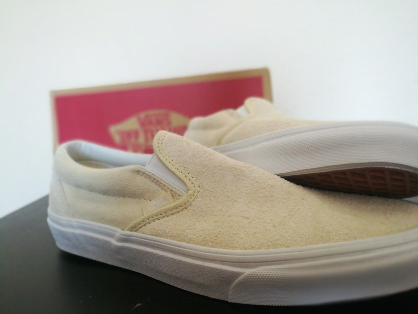 VANS AUTHENTIC 'HAIRY SUEDE' TURTLEDOVE OFF WHITE SIZE 7.5 ERA OLD SKOOL