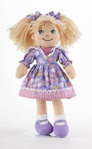 Blonde-Hair-Apple-Dumplin-Doll-Purple-Explosion-Floral-Dress-14-034-Delton