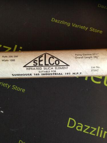 "SELCO Sunhouse 165 infra rouge Silice élément 1000 W firebar 240 V Chauffage 27 11//16/"""