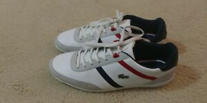 detailed look 1e8af 4f23c Details about Lacoste Giron TCL Cam White Red Leather Synthetic Excellent  Condition