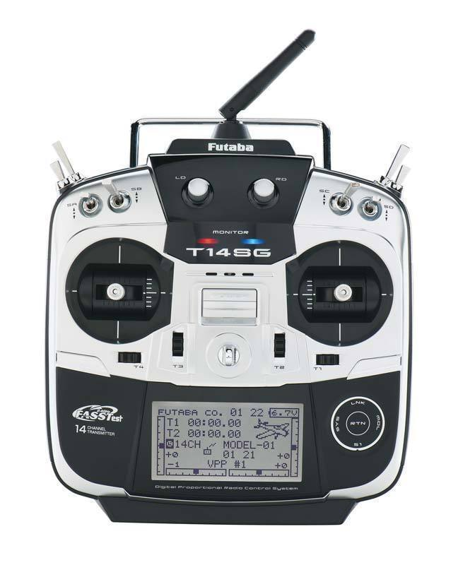 FUTABA 14SG RADIO MODE 1 FASST 2.4GHZ RC TRANSMITTER ONLY