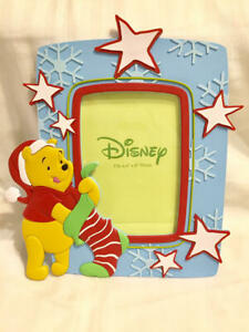 Christmas-Disney-Winnie-the-Pooh-Stocking-Picture-Frame-4x6-Enesco-NEW