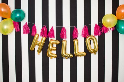 """Hello 16 18 21 30 40 50 60 Custom 16/"""" Ballon Lettre Bannière Guirlande Anniversaire"""