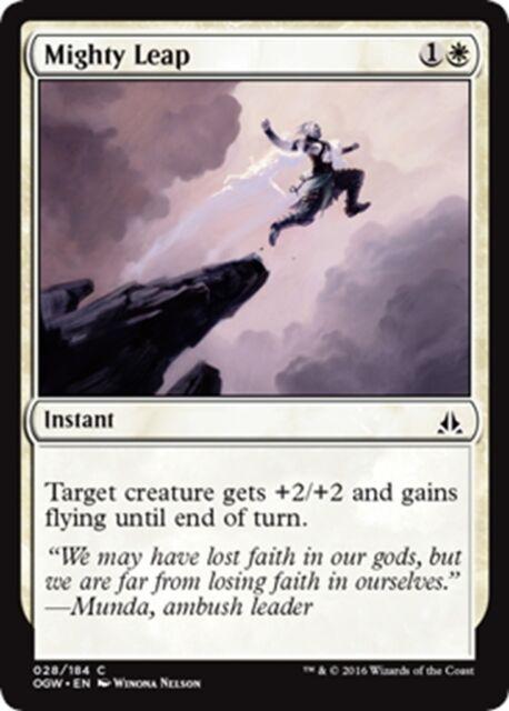 MTG Magic - (C) Oath of the Gatewatch - 4x Mighty Leap x4 - NM/M