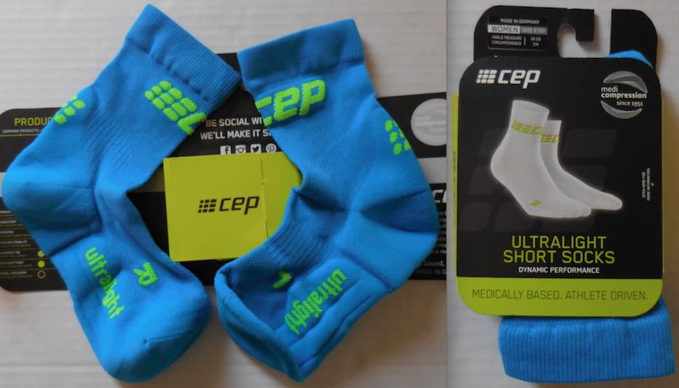 CEP Damen Ultraleicht Kurz Kompression Socken Farbe El Blau/Grün Größe 5-6.5