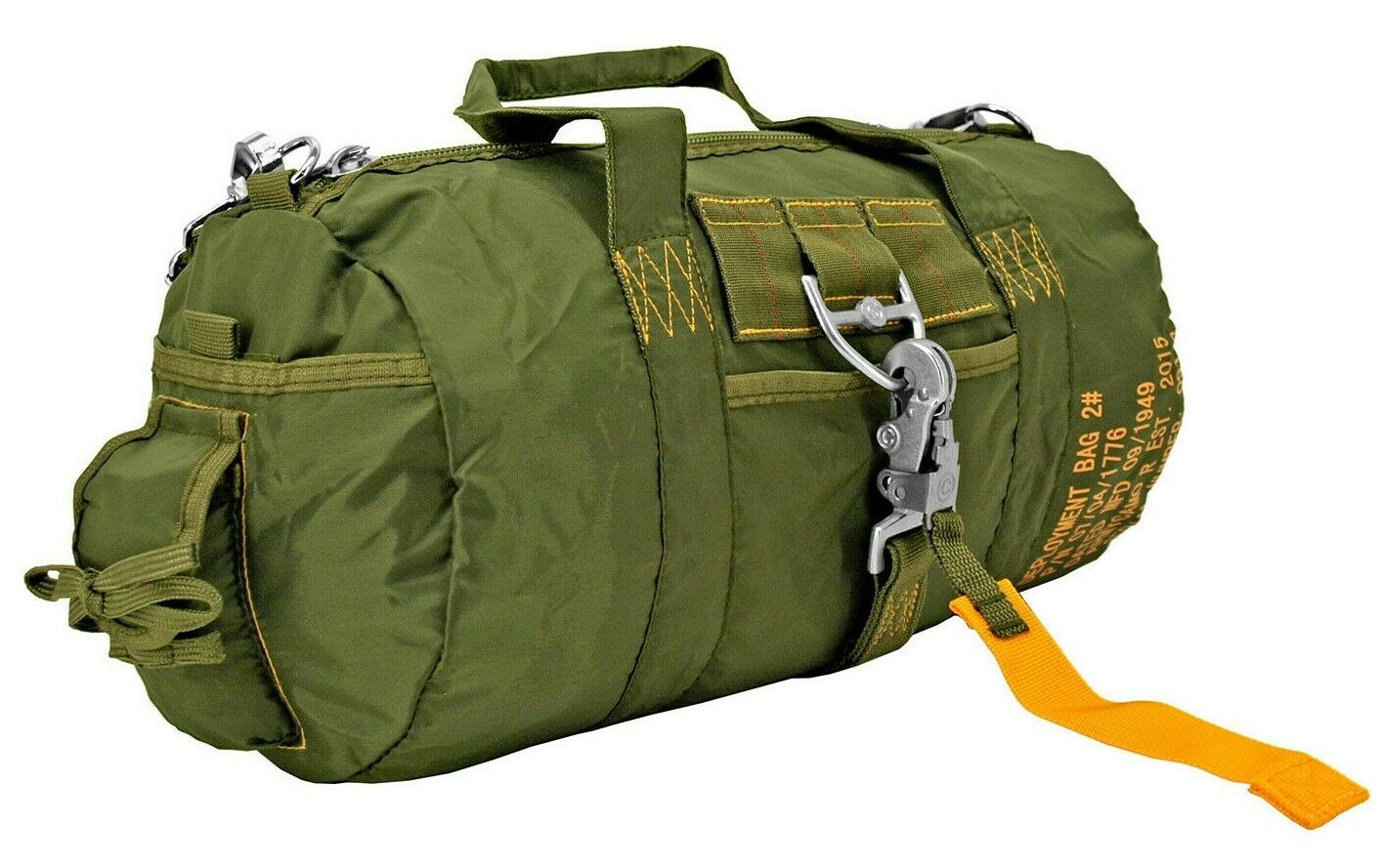 AC-USA Tactical Parachute Duffle Bag Military Flight Style Camp Travel Bag ODG