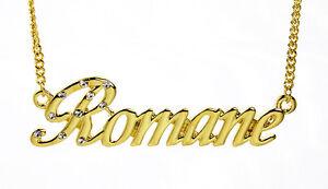 collier prenom romane