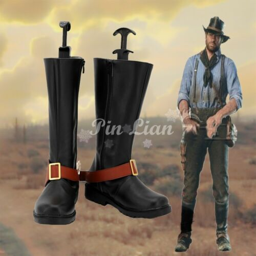 Details about  /Red Dead Redemption Authur Morgan Boots Shoes Cosplay Costume Halloween