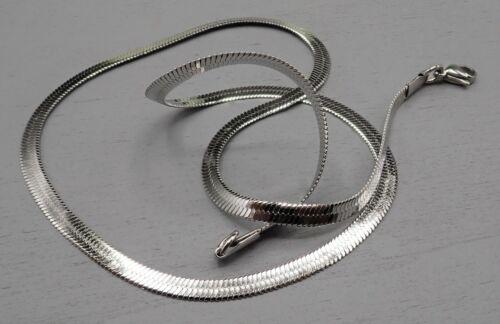 50,2cm Halskette Schlangenkette 3,8mm breit Edelstahl silberfarben SB 658
