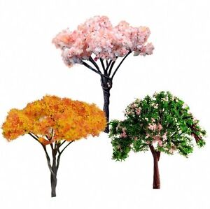Tree-Plant-3x-Mini-Dolls-039-House-Garden-Accessory-Miniature-Fairy-Ornament-DIY