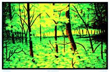 Summer Woods Flocked Blacklight Poster Art Print Blacklight Poster Print, 24x36