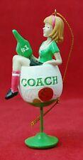 #1 Coach Green Wine Glass Resin Ornament Christmas Stocking Stuffer