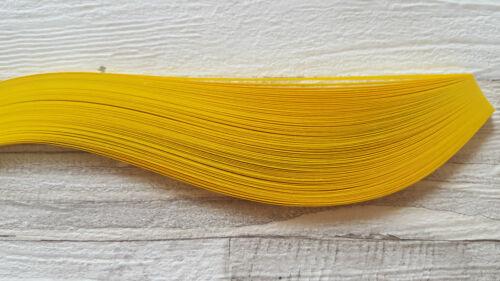 200 découpis Papier Bandes en Sunny JAUNE-largeur 3 mm