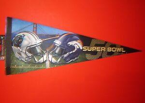Super Bowl 50 L Denver Broncos vs Carolina Panthers NFL Football Pennant