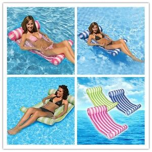 Swimming Floating Inflatable Mat Bed Summer Beach Pool Raft Lounge Pad Air Mat