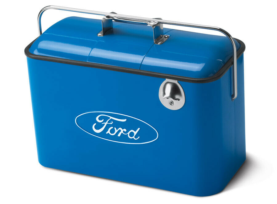 Blau Vintage Ford Drink Cooler Classic Style