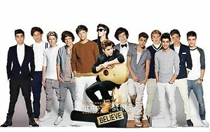 Justin-Bieber-amp-One-Direction-LIFESIZE-CARDBOARD-CUTOUT-Standee-Standup-Cutouts