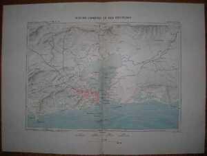 1894 Reclus map RIO DE JANEIRO AND VICINITY, BRAZIL (#3)
