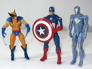 Marvel Detalles Original Vengadores Man Américaamp; Iron Título Capitán Figura De Ver Los Juguete Set Wolverine Vs fyYbv76g