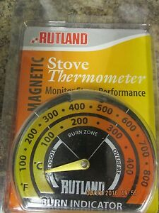 New-701-RUTLAND-Magnetic-Stove-Pipe-Chimney-Thermometer-Metal-Temperature-Gauge