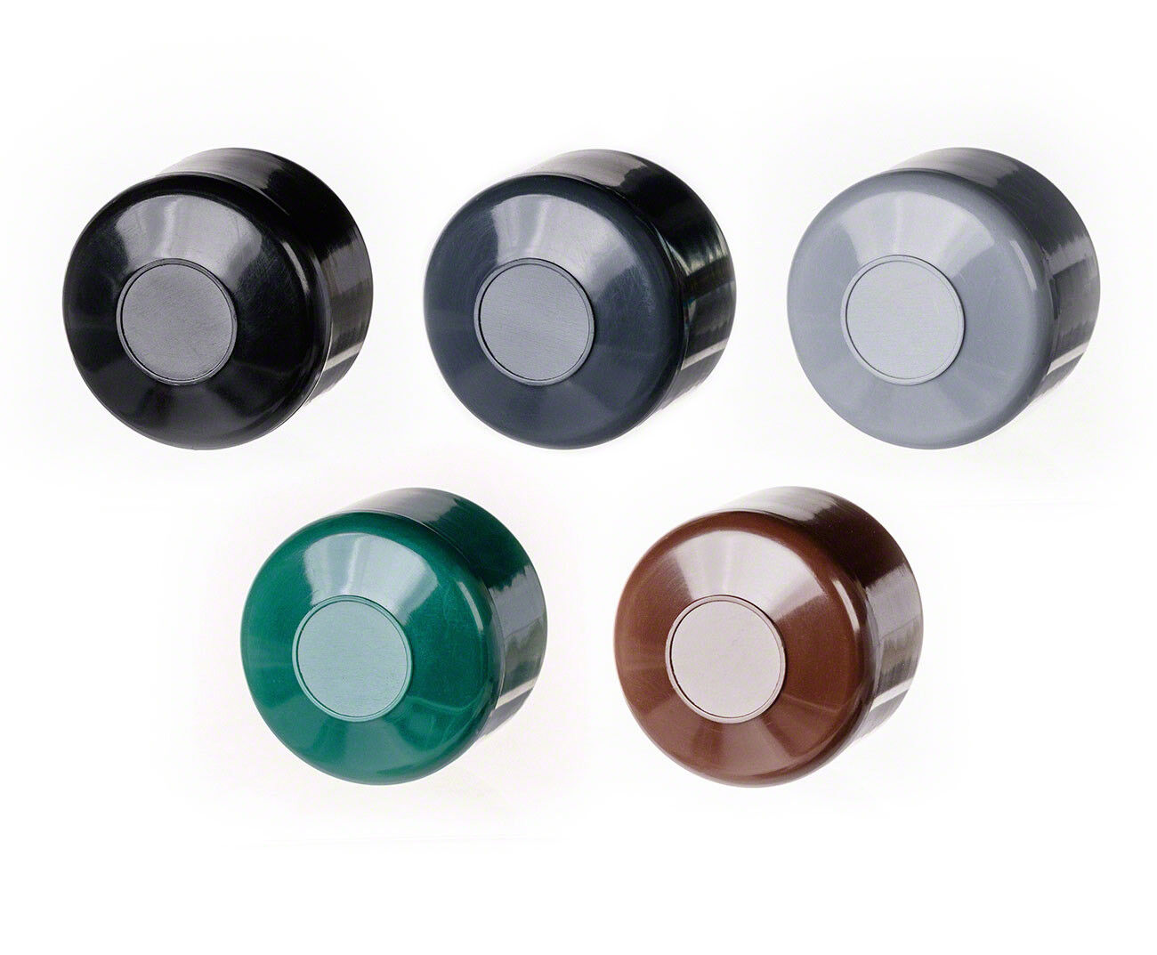 Zaunpfahlkappen 2/'/' 59,8 mm schwarz Rundstopfen Pfostenkappen Zaunkappen Pfosten