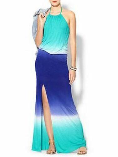 YOUNG FABULOUS /& BROKE NEW $233 BLUE OMBRE KASSANDRA MAXI DRESS Medium M