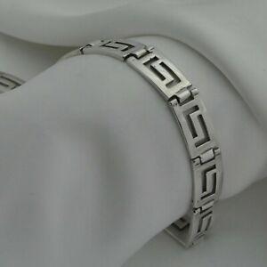 Solid-925-Sterling-Silver-Greek-Key-Design-Bracelet