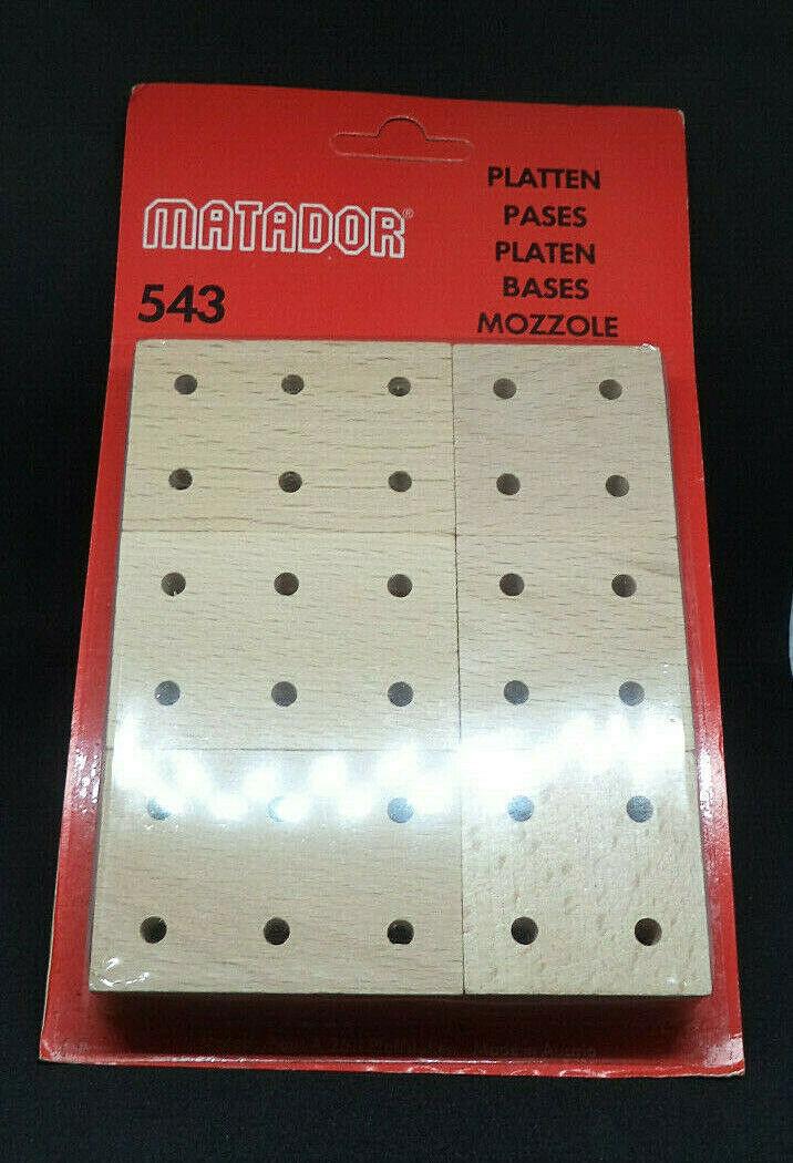 100 Packungen MATADOR 543 Explorer, 900 Platten Holz Buche 4er 6er 10er Korbuly