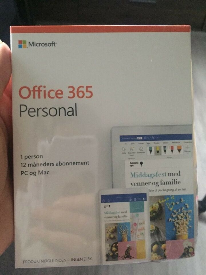 Office 365 Personal til 1 person 12 måneder, Licens