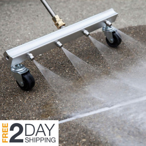 Driveway Surface Cleaner Attachment Pressure Power Washer Water Broom Sidewalk