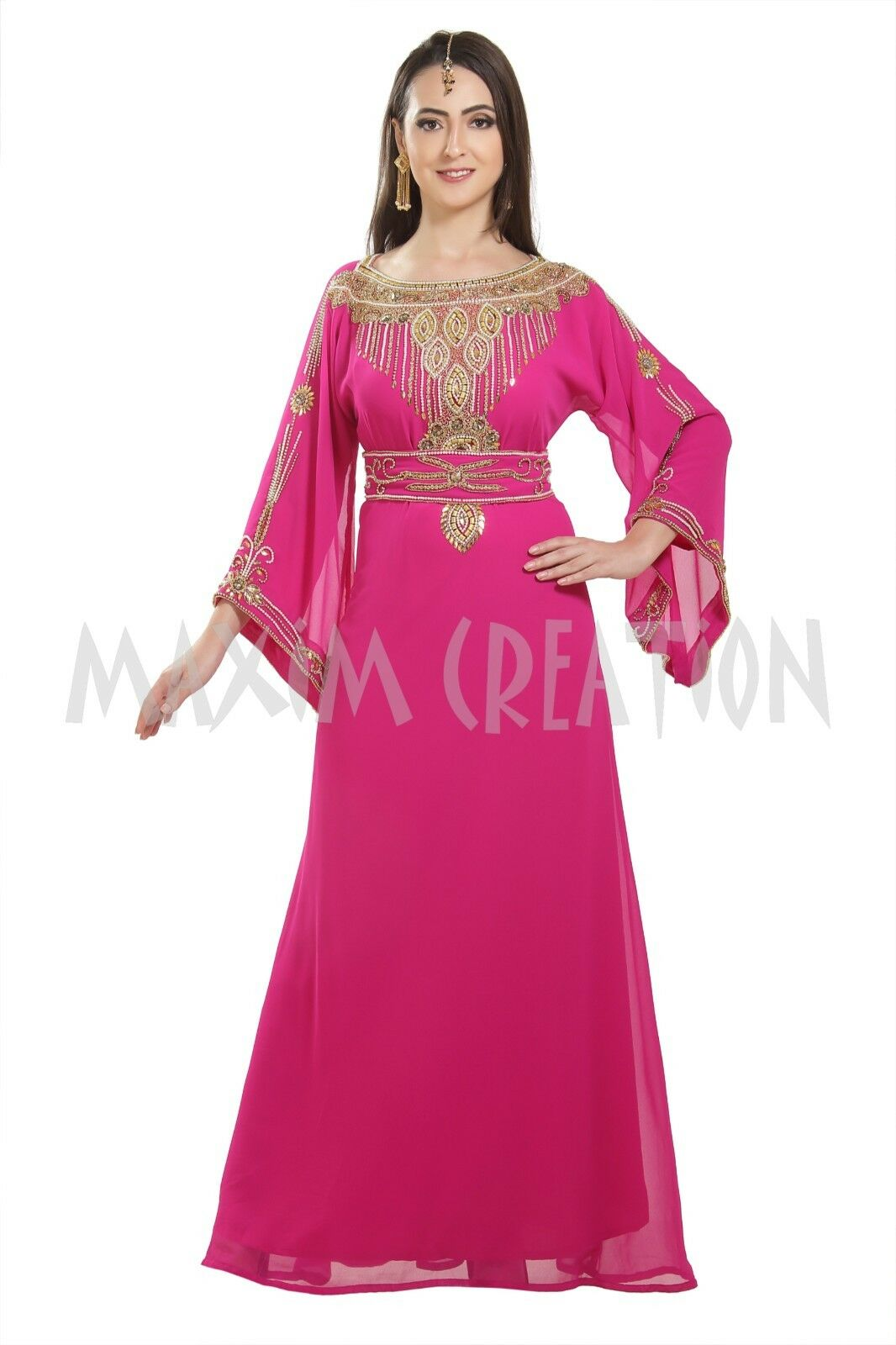 Henna Party Wear Soiree Gown Farasha Ladies Daily Use Maxi Dress Kaftan 7170