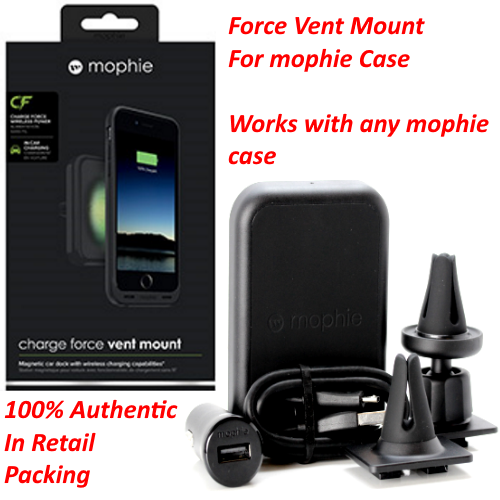 official photos ca99c e31cb iPhone X Wireless Charging Station Car Vent Magnetic Mount for mophie Cases