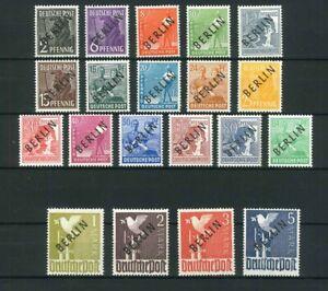 Luxus Berlin Schwarzaufdruck - Mi.-Nr. 1-20 ** geprüft Schlegel BPP - Mi. 370,-
