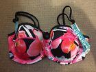 Bonds Pink Floral Size XL Bikini Top Swimwear RRP $49.95 New UDP 50+
