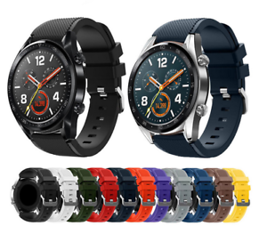 For Huawei Watch GT 2 46MM Silicone Fitness Replacement Wrist Strap