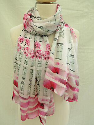 STUNNING Slight second Ted Baker Wendele Window Box Long 100/%Silk Scarf RRP£79