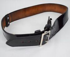 "GOULD /& GOODRICH 2 1//4/"" BLACK LEATHER HEAVY DUTY GUN BELT SIZE 42/"""