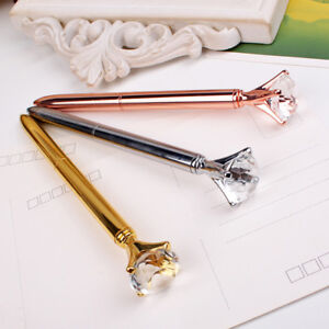9fe71aea94 Metallic Diamond Top Pen, Silver, Gold and Rose Gold Pen, Metal ...