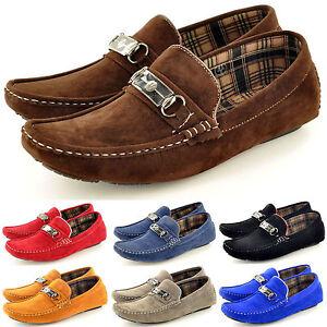 Hombre-Informal-Mocasines-Mocasines-Sin-Cordones-Zapatos-De-Conduccion