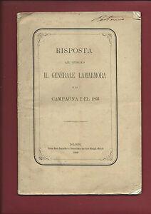 Libro-1868-Risposta-all-039-Opuscolo-Il-Generale-La-Marmora-e-Campagna-1866-Firenze