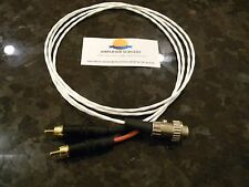 NAIM HICAP to AMPLIFIER DIN4 to RCA 3ft CUSTOM Silver-Plated AUDIOPHILE CABLE